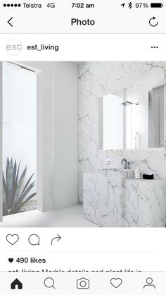 Love Marble wall and simple shower