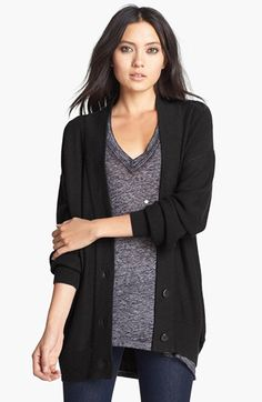 Leith Knit Boyfriend Cardigan available at #Nordstrom -- I love cozy, casual cardigans.