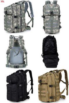 [Visit to Buy] 35L High Quality Waterproof Men Women 3P Military Backpack Large Capacity Trekking Backpack Mochila Escolar XJ470 #Advertisement