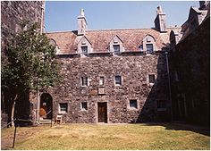 Duart Castle courtyard, kitchens and residential rooms