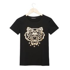 2017 Fashion New Men T Shirt Tiger Pattern Printing T-shirt Casual Body Slim Wild T-shirt O-neck Short Sleeve Black Men Tops