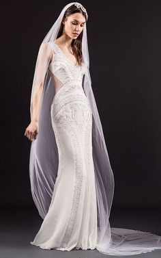 The new Temperley London wedding dresses have arrived! Take a look at what the latest bridal collection has in store for newly engaged brides. Spring 2017 Wedding Dresses, Wedding Dress Trends, Designer Wedding Dresses, Bridal Dresses, Wedding Gowns, Wedding Aisles, Ivory Wedding, Dresses Dresses, Wedding Pics