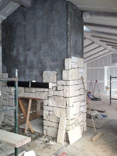 The antique firebrick inside the fireplace will be significantly lighter when it dries out.