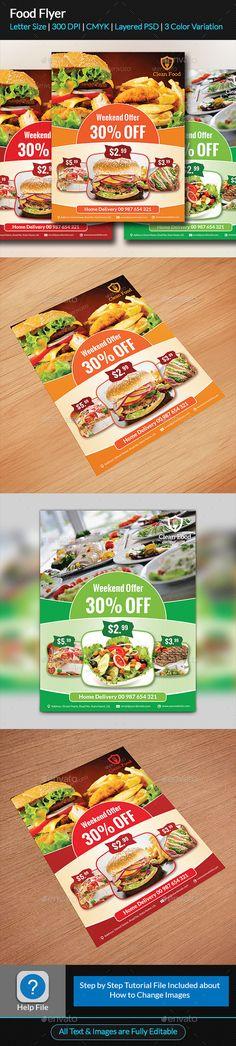 Food Menu Flyer Food menu, Print templates and Menu - menu flyer template