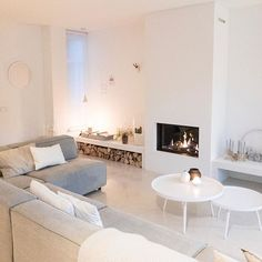 Living Room Scandinavian Fireplace - 42 Lovely Scandinavian Fireplace To Rock This Year. Scandinavian Fireplace, House Interior, Home, Living Room Inspiration, Scandinavian Living, Living Room Scandinavian, Home And Living, Scandinavian Design Living Room, Fireplace Design