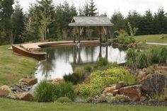 Covered Farm Pond Dock Design | 49,022 farm pond Home Design Photos