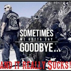 I don't go one day without missing *MY* show.  Kurt Sutter forever changed me as a person, for real.