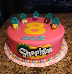 Write your name on beautiful Shopkins Kids Birthday Cake Designs with name. Print or Edit your name on lovely happy birthday cakes and generate photo with best online cake generator and editor. Awesome Shopkins Kids Birthday Cake Designs with name Birthday Cake Maker, Online Birthday Cake, Shopkins Birthday Cake, Bolo Shopkins, Fete Shopkins, Beautiful Birthday Cakes, Happy Birthday Cakes, Birthday Desserts, Birthday Recipes