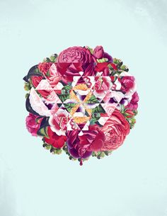 Gorgeous geometric floral design, I'd have this on my wall in an instant