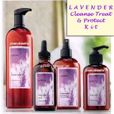 WEN-Cleanse-Treat-Protect-Kit-Lot-LAVENDER-32oz-Style-Creme-Volume-Mist-4oz-Oil