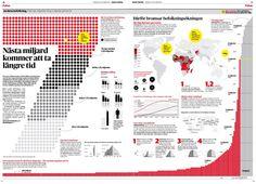 7 miljarder människor i världen. Dagens Nyheter. Prisbelönt med silver Society of News Design. #nyhetsgrafik #infografik