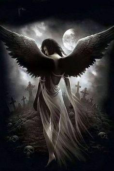 Group of Dark Angels And Goth Dark Fantasy Art, Fantasy Kunst, Dark Art, Dark Gothic Art, Fantasy Women, Dark Angels, Angels And Demons, Fallen Angels, Sad Angel
