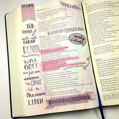 Das Ergebnis vom österlichen Journaling Treffen in Leonberg zu Psalm 40, 6 (Psalm 40,5 in der englischen Übersetzung) - hier die Bibelseite von Chris