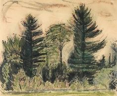 Poor (american 1888-1970) The Pines