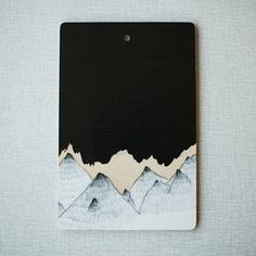 Cutting board, Mountain sky. N E E D.