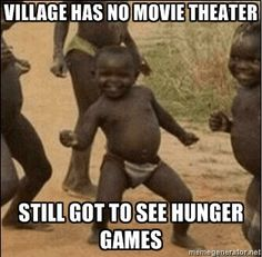 Village has no movie theater, still got to see Hunger Games