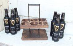 Reclaimed Wood Beer Carrier Home Brew Beer door baconsquarefarm