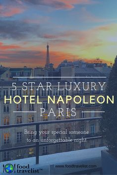For a regal and romantic stay in Paris relax at the 5 -Star luxurious Hotel Napoleon Paris. Its ideal location, beautiful accommodations, exceptional service and tasty restaurant and bar make it simply a perfect place to stay.