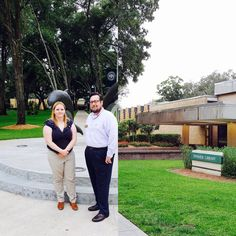 GPO Outreach Librarian Jaime Huaman visits Jacksonville University and meets with Carl S. Swisher Library depository coordinator Raymond Neal. This Florida library has been part of the Federal Depository Library Program since 1962.