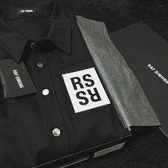 BLACKSNOBIETY Fashion Packaging, Mr Porter, Raf Simons, Clothing Labels, Black Denim, Branding, Mens Fashion, Casual, Jackets