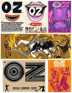 Oz kept me amused in the Sixties Saul Bass, Illustrations, Illustration Art, Oz Magazine, Magazine Covers, Pop Art, Martin Sharp, Hippie Culture, London Photographer