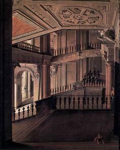 Staircase in the Berlin Palace. Eduard Gaertner