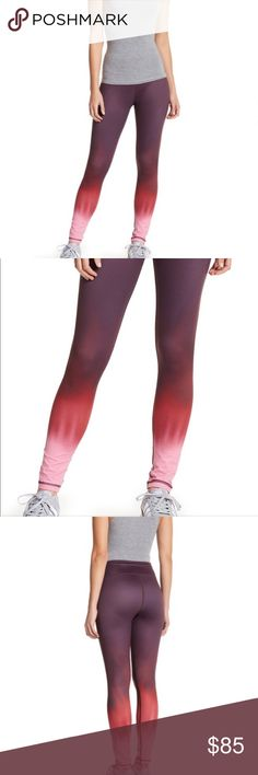 """NEW Vie Active Women's Cropped Sporty Leggings Brand New With Tags. Vie Active Rockwell Cropped Sporty Leggings With Sleek Multihued Print. Retail Price $115 - Pull-on style - Ombre print - Contrast topstitching detail - Stretch construction - Skinny leg - Approx. 9"""" rise, 25"""" inseam (size S) Fiber Content 73% polyester, 27% spandex Machine wash cool Fit: this style fits true to size. Large (12-14) ; Waist: 30.5-31.5 & Hip: 42 P16 Vie Active Pants Leggings"""