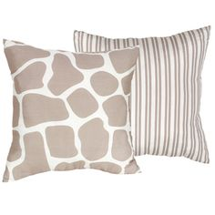 @Overstock.com - Sweet JoJo Designs Giraffe 16-inch Decorative Throw Pillow  - Bring contemporary style and sophistication to your home decor with this reversible decorative throw pillow from Sweet JoJo Designs. The bold giraffe pattern will add a touch of nature to your sofa or bedding, and it has stripes on the reverse side.   http://www.overstock.com/Home-Garden/Sweet-JoJo-Designs-Giraffe-16-inch-Decorative-Throw-Pillow/7588520/product.html?CID=214117 $22.99