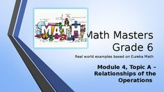 Are you looking for a real-world introduction to your Eureka Math program that energizes and entertains your students while they learn the concepts? Then this PowerPoint program is for you!Topic A:  Relationships of the Operations Lesson 1: The Relationship of Addition and Subtraction  Lesson 2:  The Relationship of Multiplication and DivisionLesson 3: The Relationship of Multiplication and AdditionLesson 4: The Relationship of Division and Subtraction  Each lesson is presented with an…