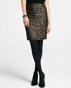 Animal Jacquard Pencil Skirt