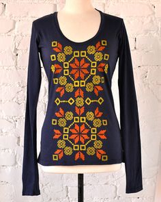 1/10 SALE Organic Long Sleeved Graphic Tee by Maryink Squash by maryink, $23.00