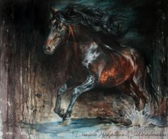 ''Entendido XXXIV''-Caballos Mayoral 100/120cm-sand and oil on canvas