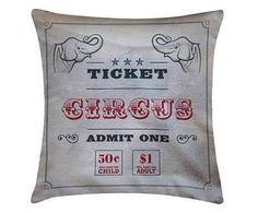 Capa de Almofada Circus - 45x45 - TOKVIPCASA