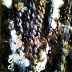 Handspun art yarn by picassosmoonyarn.com
