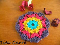 'Tita Carre' Tita Carré - Agulha e Tricot : Uma flor em crochet que é um motivo para sonhar