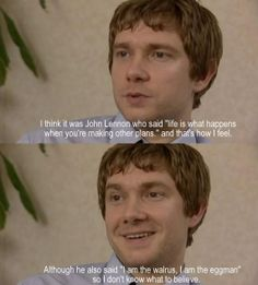 Martin quoting John Lennon! Ahh! This is just....I can't...please excuse me, I need a moment....