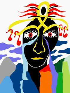 'Deidad Africana' by Rony.