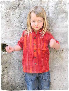 camicia Mario junior  junior  camicia per  bambino con manica corta e   bottoni in legno di  cocco d7f2fba0ad25