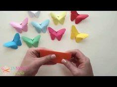 Kağıttan Kelebek Yapımı. ♡ - YouTube