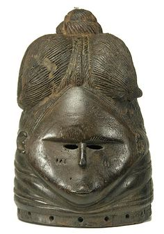 Toma Bundu Helmet Mask dating from the first half of the 20th Century.