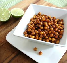 Inspired Edibles: Crispy Roasted Chili Lime Chickpeas