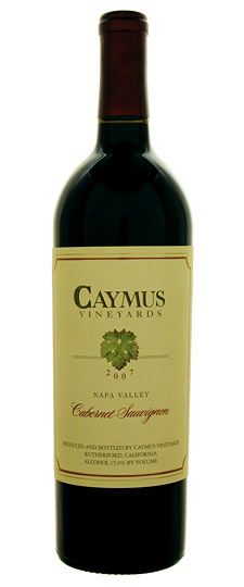 2007 Caymus Napa Valley Cabernet Sauvignon ~ Shared with my favorite ladies (1/6/2012)