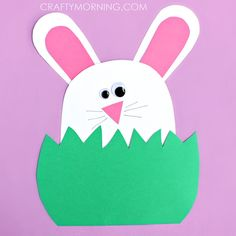 Bunny In Grass   Simple Easter Crafts for Toddlers