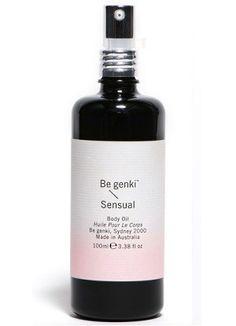 Be Genki Sensual Body Oil 100ml - VEGAN Friendly - CCF certified
