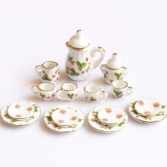Brand/Pattern not specific Sugar Bowl, Tea Set, Bowl Set, Pattern, Flower, Play Kitchens, Girls Toys, Porcelain Ceramics, Creativity