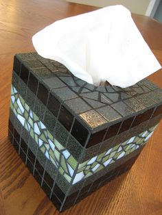 Mosaic Tissue Box Cover- summer project
