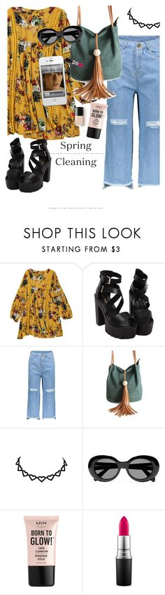 """""""Monday Monday!"""" by elliewriter ❤ liked on Polyvore featuring Acne Studios, NYX and MAC Cosmetics"""