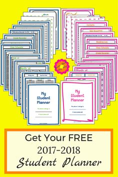 Free 2017 - 2018 Student Planner at www.homemadeourway.com/free-student-planner
