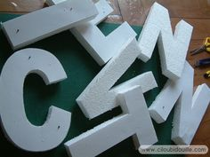 Lettres décoratives | Ciloubidouille