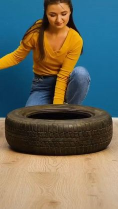 Homemade Home Decor, Diy Crafts For Home Decor, Diy Crafts Hacks, Rope Crafts, Diy Projects, Tire Furniture, Diy Furniture Decor, Diy Room Decor, Home Room Design